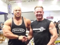 Willi Odenthal trift Phil Heath bei der FIBO 2012